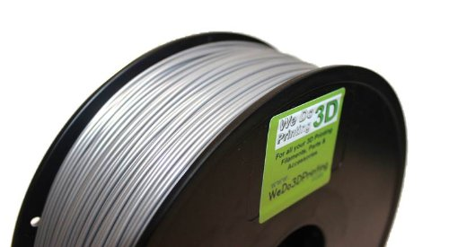 Filament imprimante 3D PLA 1.75 mm-Argent – 20 m-Leapfrog, Makerbot, UP