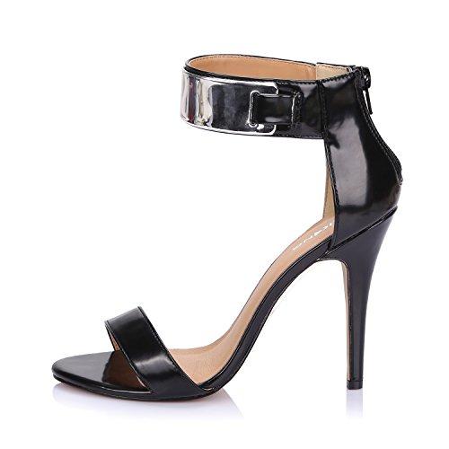 Edel High Heels (LiKing 23-002 Damen Sandalen Sandaletten High Heels Schwarz 39)