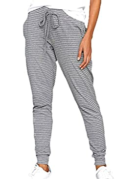Fanvans De las Mujeres Lounge Pantalones Stripes Full Length Soft Jogger Pant