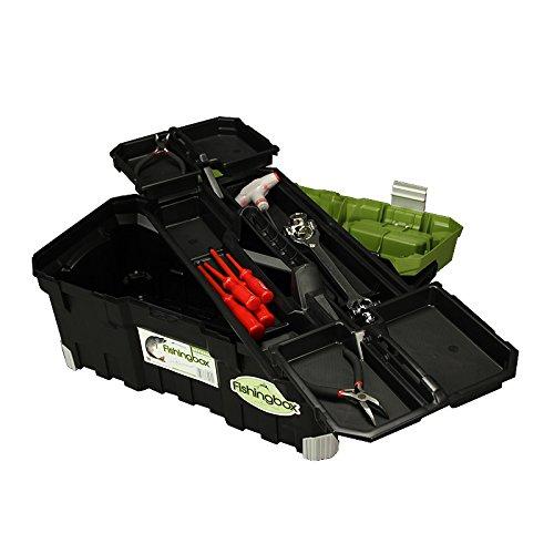 Angelkoffer Fishingbox Werkzeugkoffer Werkzeugkasten Sortimentskasten Werkzeugbox 55x29x28 cm - 3