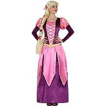 Atosa - Disfraz Princesa Rosa y Morada tipo Rapunzel (XS-S)