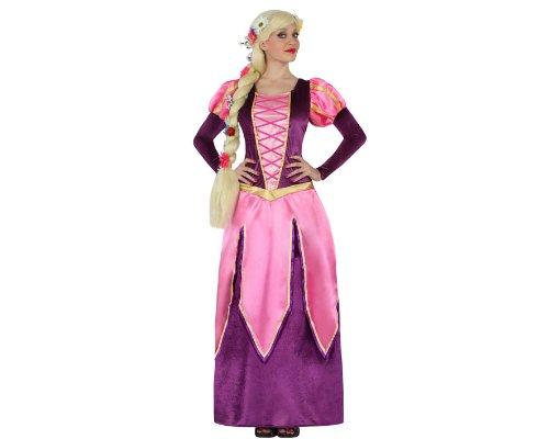 Atosa - Disfraz Princesa Rosa y Morada tipo Rapunzel (M-L)
