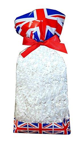 50 x klar Zellophan Block Boden Party süß Süßigkeiten behandeln Taschen (groß - 120x80x330mm) - Union Jack