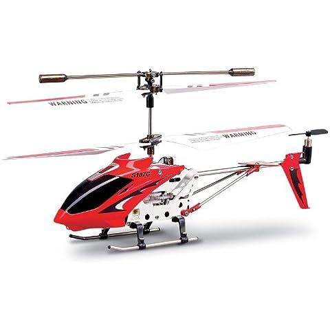 Syma - Helicóptero de radiocontrol para interiores, color rojo (2382)
