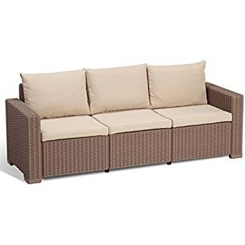 Lounge sofa rattan  Amazon.de: Allibert Lounge Sofa, Balkon, California, Beige, 3 ...