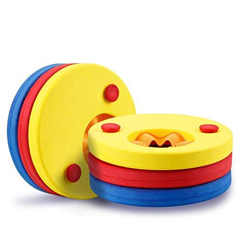 Mture Discos Flotantes, Manguitos para Niños que Aprenden a nadar, Espuma Mangas del Brazo de Flotabilidad Círculos Anillos - 6 Piezas