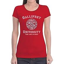Gallifrey University Damen T-Shirt Slim Fit - Doctor Time Academy Who