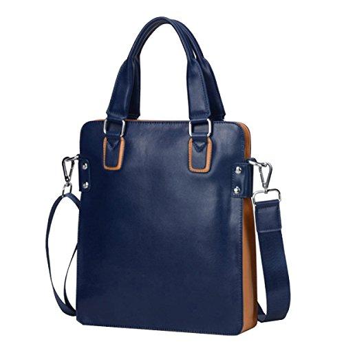 Yy.f Mann Tasche Umhängetasche Kurierbeutel Geschäftsmann Beiläufige Art Und Weise Neue Ledertasche Herrentasche 2 Farbe Blue