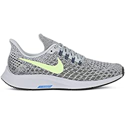 Nike Air Zoom Pegasus 35 (GS), Zapatillas de Running para Niños, (Light Silver/Lime Blast-Twilight Marsh 003), 37.5 EU
