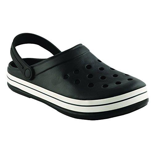 Birde PU Black Clogs Sandals for Mens & Boys