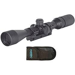 Visor Gamo. Mira telescópica 3-9x40 con zoom y reticula iluminada + funda multiusos. Especial para tiro deportivo. 2277/23054