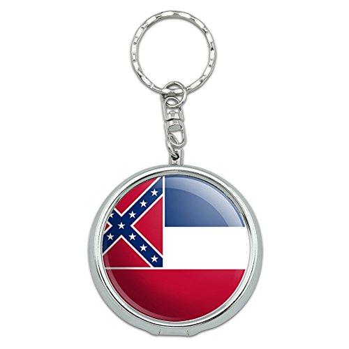 Portable Travel Größe Pocket Geldbörse Aschenbecher Schlüsselanhänger State Flagge Mississippi State Flag (Mississippi State Flag)