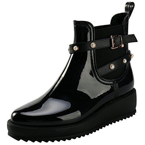 de Ankle Leroy Femme Compensé Noir Mode Bottes Chelsea Plateforme Alexis Boots Cheville à Pluie dgvtw1wxq