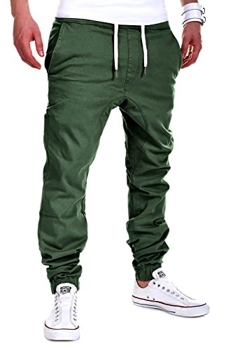 MT Styles Harem Jogger Chino-Hose C-60 [Khaki, W32] (Khaki-hosen)