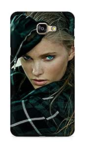 Amez designer printed 3d premium high quality back case cover for Samsung Galaxy A9 (Hosk model pose sexy girl art.JPG)