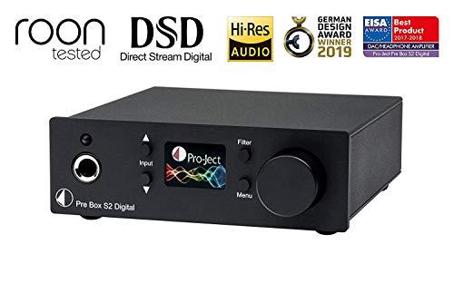 Pro-Ject Pre Box S2 Digital, Audiophiler Stereo Vorverstärker (Schwarz)
