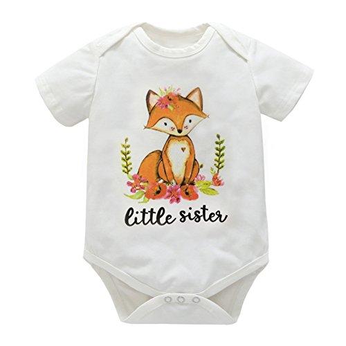 Bornbayb 0-18 Monate Kleine Schwester Onesie Baby Outfit Shirt für große Schwester Alter 1-6 von Bornbayb