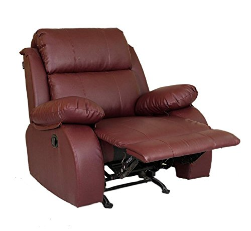 Recliners India Style 205 Single Seater Recliner (Matt Finish, Burgandy)
