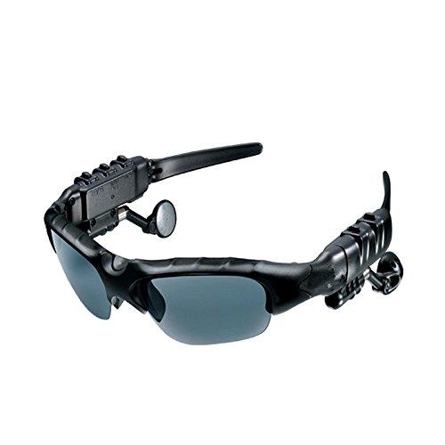 Bluetooth Brillen ollivan Intelligente Rauschunterdrückung One für Zwei Bluetooth-Bluetooth Headset 4.1Stereo Polarisierte Sonnenbrille für Musik Anrufe Schwarz