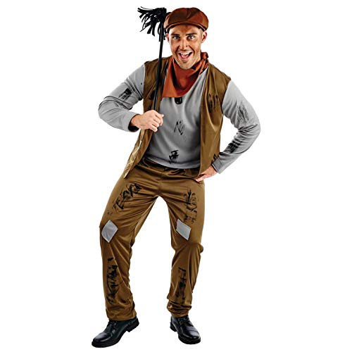 Für Mary Erwachsene Poppins Bert Kostüm - Fun Shack Herren Costume Kostüm, Chimney Sweep, XL