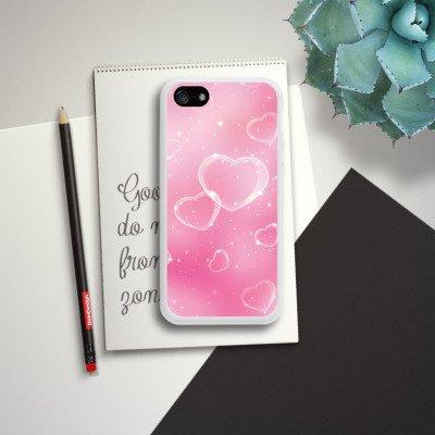 Apple iPhone 5 Housse étui coque protection C½ur Amour Amour Housse en silicone blanc