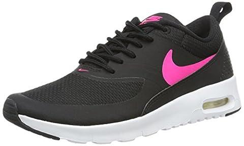 Nike Jungen und Mädchen Air Max Thea (GS) Low-Top, Mehrfarbig (Black/Hyper Pink White), 38 EU (Nike Air Max Thea Black)