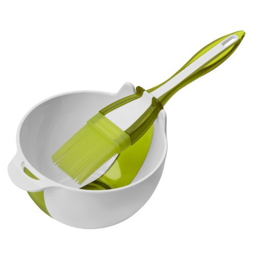 Premier Housewares Basting Brush and Bowl Set - Lime Green