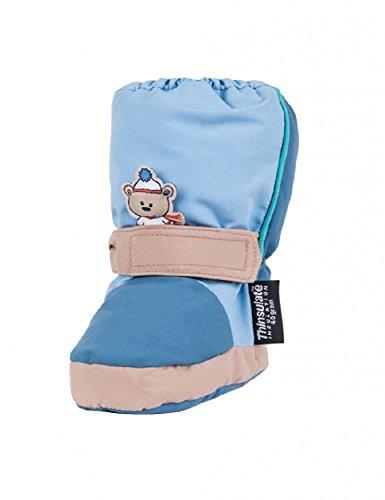 maximo , Chaussures souple pour bébé (garçon) bleu Bleu/bleu clair 23/24 Bleu/bleu clair