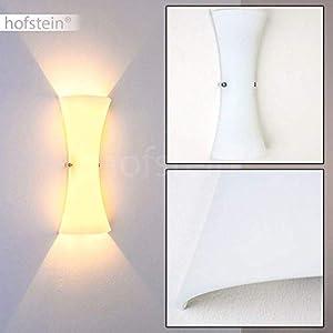 Wandlampe Zimbo in Weiß, moderne Wandleuchte aus Glas mit Lichteffekt, 2 x G9-Fassung, max. 33 Watt, Innenwandleuchte mit Up & Down-Effekt, geeignet für LED Leuchtmittel