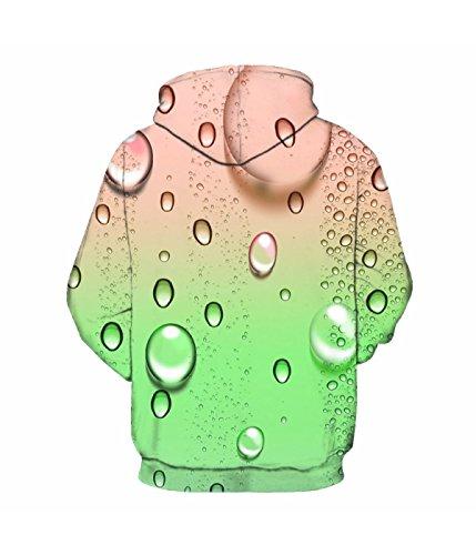 Felpa Con Cappuccio Felpa Con Cappuccio 3D Stampa Coulisse A Maniche Lunghe Casual Jumper Traspirante Con Grande Tasca Per Uomo Donna Coppie Green