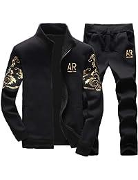 Homme Survêtement Ensemble Pantalon De Sport + Sweat-Shirt Veste Jogging Manches  Longues 1b3165badd0f