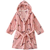 BELLOO Kids Girls Winter Nightwear Hooded Bathrobe Fleece Dressing Gown 2b7442dec