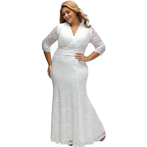 Yueyuefa Robe de soiree White