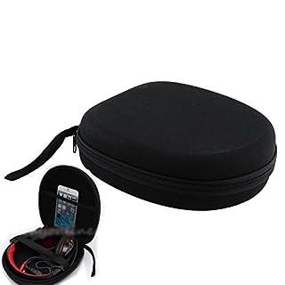 Kicode Schwarz Farbe Hard Shell große Trage Kopfhörer-Kasten Für Bluetooth / Wired Headset Kopfhörer Earbuds