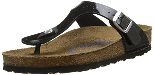 Birkenstock, Damen Gizeh Durchgängies Plateau Sandalen, Schwarz (Magic Galaxy Black), 38 EU (5 UK)
