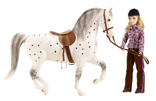 breyer-b1409-set-cavallo-e-set-da-equitazione-lets-go-scala-19-colori-assortiti