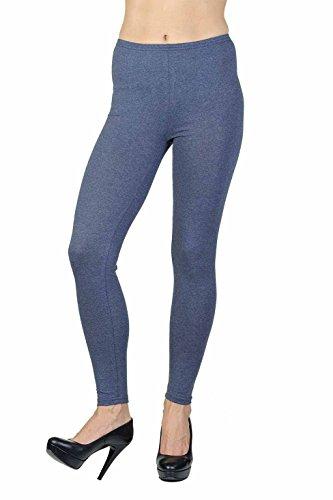jandaz® Standard- oder Winter Dick voller Länge oder zugeschnitten Leggings Größen S-3X L 95% Baumwolle Vielzahl von Farben. Full Length Denim