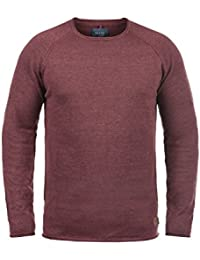 Blend John Pull en Maille Pull-Over Tricot Homme Encolure Rond 100% Coton 2cdbebde2c45