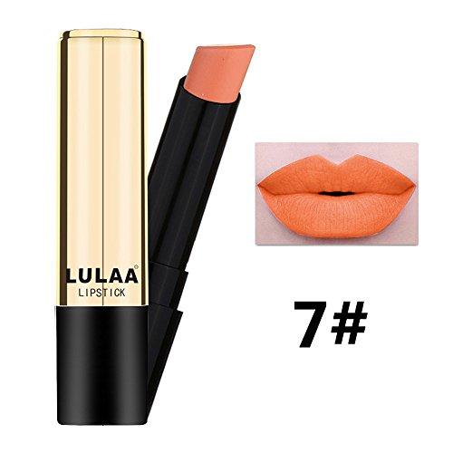 Lipgloss,Rabatt,PorLous 2019 Beliebt Lulaa Makeup Matte Lip Gloss Lipstick Langanhaltender Lipgloss Feuchtigkeitsspendend 7