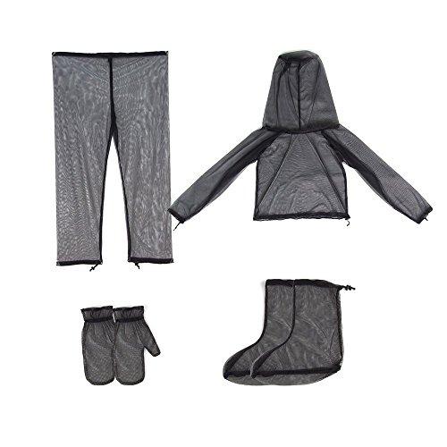 Yundxi Anti-Moskito Anzug Insektenschutz Jacke Handschuhe Hose Socken Sack Schutzanzug Set für Herren Damen mit extrem Mesh Hiking Fishing Camping Bee Füttern Radfahren