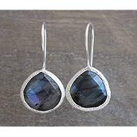 Labradorit Sterling Silber Ohrringe Prime Special Reg. Price 35