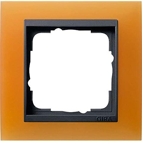 GIRA 021187 Mascherina di copertura 1 modulo per anthracite Event Opak arancio brillante