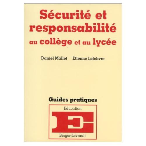 Sécurité et responsabilité au collège et au lycée