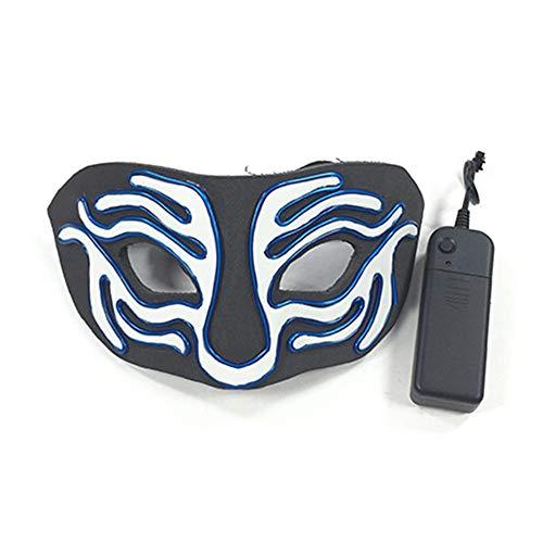 iBaste Halloween Masken Cold Light Leuchtmaske Tiger Maske Weihnachten Kostüm Maske Halloween Party Cosplay Kostüm Dekoration (Halloween Tiger Geist Kostüm)