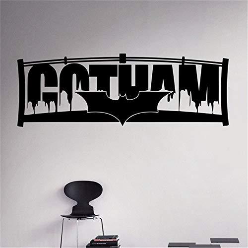 Pegatinas De Pared Batman City Gotham Noche Etiqueta De La Ciudad Ciudad De Superhéroes Interior De La Casa Arte De La… 3