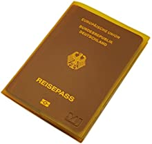 Fundas de pasaporte 2 bolsillos MJ-Design-Germany Made in UE en varios colores