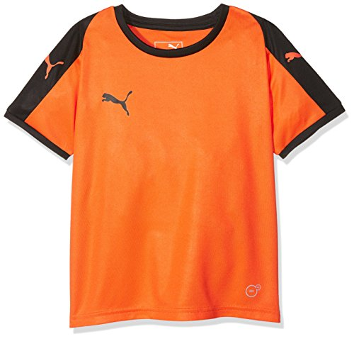 Puma Kinder Liga Jersey Jr T-Shirt, Golden Poppy Black, 164 -
