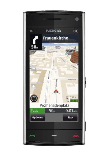 Nokia X6 Smartphone (8.1 cm (3.2 Zoll) Display, Touchscreen, 8GB interner Speicher, 5 Megapixel Kamera) blau Nokia X6 Touch Screen
