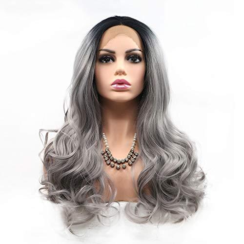ige Perücken Für Frauen Lange Synthetische Haarwurzeln Blonde Lace Front Perücke Uk Für Frauen Hochwertige Hitzebeständige Faser Halbe Hand Gebunden 20 Zoll Halloween ()