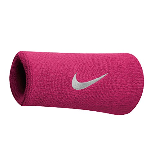 Nike Swoosh Doublewide Schweißbänder, Vivid pink/White, OSFM